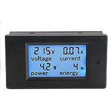 DROK® Mostra AC 80-260V Power Monitor Elettricità amperometro blu LCD