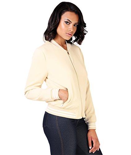KRISP Damen Leichte College Jacke Gold Zipper