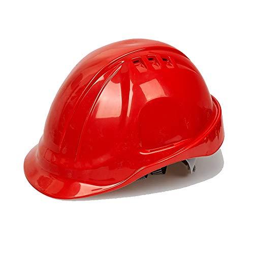 ChenCheng Schutzhelm-ABS Baustelle Projektleitung Überwachung Hochwasserschutz Anti-Schock-Fabrik Schutzhelm Sommerlüftung Outdoor Equipment (Color : Red)