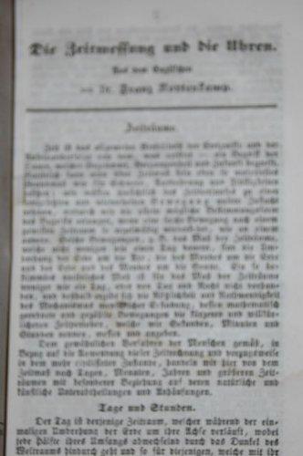 Die Zeitmessung und die Uhren. Aus dem Englischen von Franz Kottenkamp. Mit Textabb.