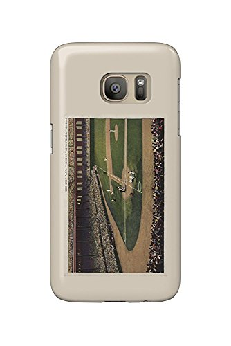 Chicago, Illinois - Comiskey Park, Home Plate, Baseball - Vintage Photograph (Galaxy S7 Cell Phone Case, Slim Barely There) - Comiskey Park
