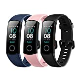 für Huawei Honor Band 4 Fitness Armband Uhr mit Pulsmesser Wasserdicht IP67 Fitness Tracker Aktivitätstracker Pulsuhren Bluetooth Smart Armbanduhr ür iPhone Android Handymonitor