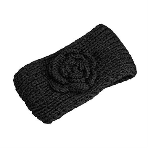 Häkeln Bauchtanz (LYZHM Stirnband Neu Kommen Mode Weibliche Kleidung Zubehör Kopfschmuck Frauen Stricken Häkeln Kamelie Blumen Haarband Stirnband HaarbandD)