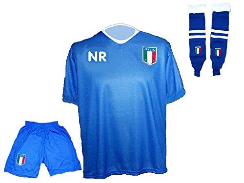 Italien Trikot Hose Stutzen mit Wunschname Nummer Kinder Größe 128 (Jugend-fußball-torwart Trikot-mädchen)
