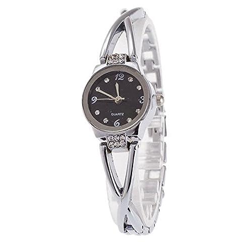 longqi Armbanduhr Damen Einfache Quarz Analog Wasserdicht Uhren mit Legierung Armband Casual Frauen Armbanduhr silberfarben