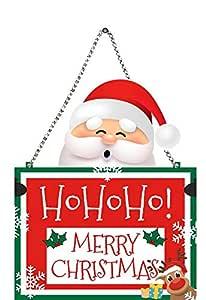 Paper Plane Design Christmas Wooden Door Wall Hanging Ornaments Wall Door Decoration Indoor Outdoor