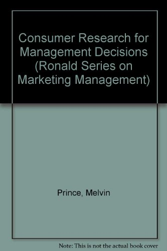 Consumer Research for Management Decisions PDF Books