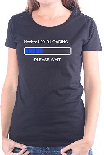 Mister Merchandise Ladies Damen Frauen T-Shirt Hochzeit 2019 Loading Tee Mädchen bedruckt Schwarz