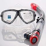 SETLOVE Maschera per Immersioni subacquee, Maschera per Snorkeling con Vetro temperato, Maschera per Snorkeling Resistente agli Urti,A