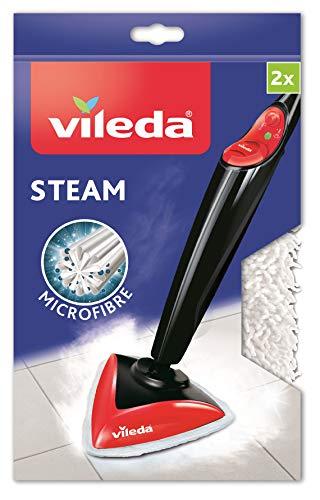 Vileda - Recambio microfibras mopa Vileda Steam, compatible