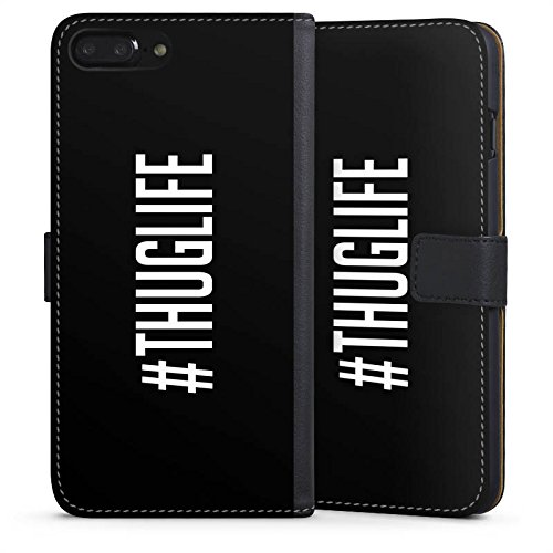 Apple iPhone X Silikon Hülle Case Schutzhülle Thuglife 2Pac Tupac Shakur Hashtag Sideflip Tasche schwarz