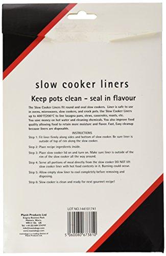 toastabags Bolsas de aluminio para cocinar Slow Cooker Liner, transparente, paquete de 5 unidades, plástico, Transparente, pack de 25