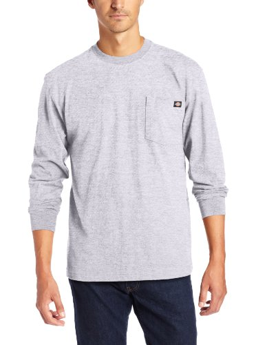 Dickies - - Herren WL450 Heavyweight Crew Neck, X-Tall, Heather Gray (Dickies-heavyweight T-shirt)