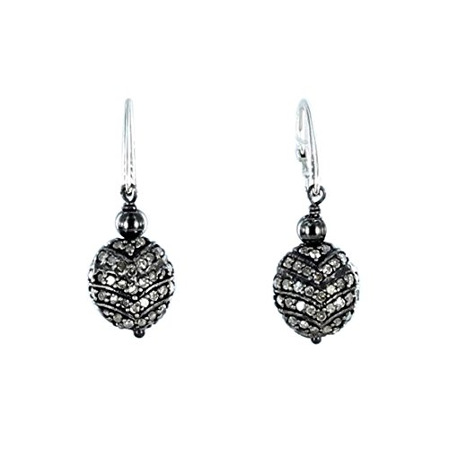 pave-diamond-earrings-sterling-silver-11mm