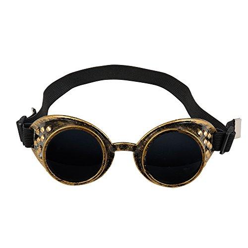 Staubigen Kostüm - PARTY DISCOUNT Schweißerbrille Steampunk mit dunklem Glas