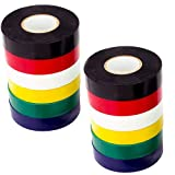 Farb-Elektroband 1,8 Cm * 20M Verwenden Sie Ihr Indoor/Outdoor-PVC-Vinyl, Um Ihre Elektrische Verkabelung Sicher Zu Färben, UL Zertifiziert Auf 600V