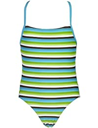 Landora® gestreifter Mädchen Badeanzug -- Oeko-Tex® Standard 100