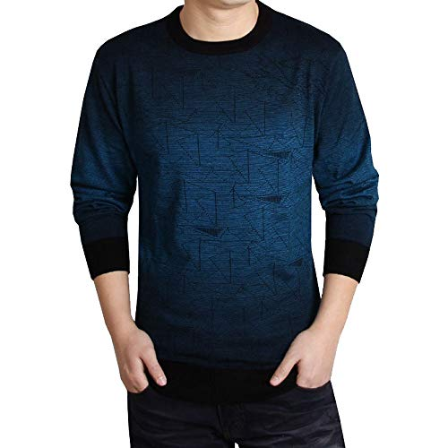 898b6ff8d11d Bealeuy Männer Pullover Herrenmode Business Printed Casual Langarm Slim  Shirts Tops Bluse Ausgereift Formal Winter Warm bleiben Sweatshirt Neu  Billige ...