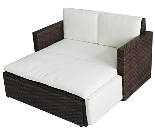 poly rattan lounge gartenset sofa garnitur polyrattan gartenm bel braun smash. Black Bedroom Furniture Sets. Home Design Ideas