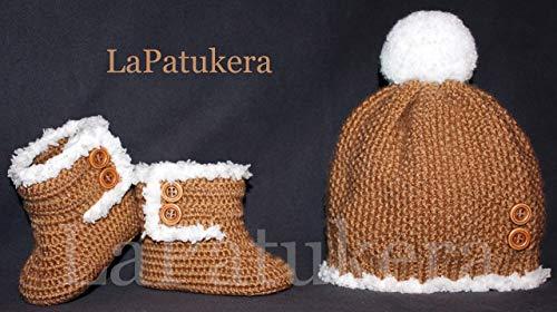 Conjunto de Patucos para bebé de crochet