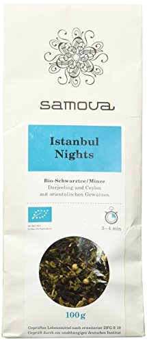 Samova Istanbul Nights Refill - Bio-Schwarztee/Minze 100g, 1er Pack (1 x 100 g) Hibiscus Night Light