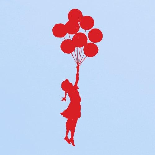Banksy Balloon Girl T-Shirt, Damen Himmelblau