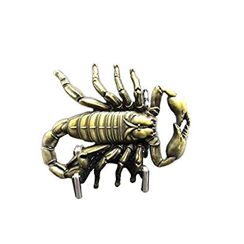 eeddoo Gürtelschnalle - 3D Skorpion - Scorpion - Buckle (Buckle für Wechselgürtel für Damen und Herren | Belt Frauen Männer Oldschool Rockabilly Metall Gothic Wave Rock Biker Western Trucker Casino)