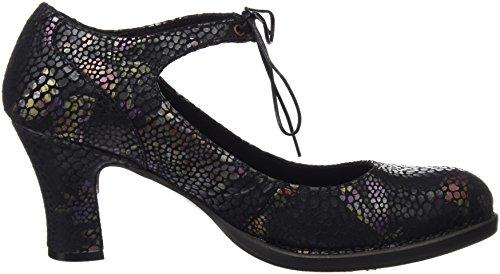 Neosens S278 Fantasy Floral Black Baladi, Chaussures à Talon avec Bout Fermé Femme Noir (Floral Black)