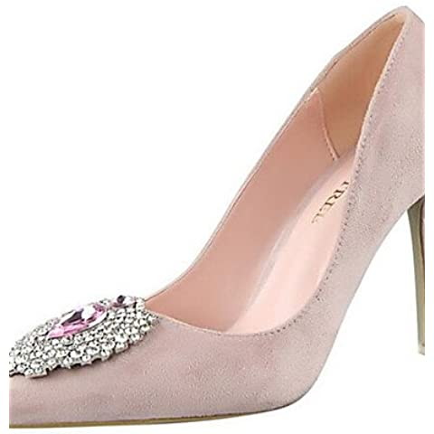 LvYuan-ggx Zapatos de mujer-Tac¨®n Stiletto-Tacones-Tacones-Fiesta y Noche-Sint¨¦tico-Negro / Rosa / Rojo / Gris / Naranja , red-us8 / eu39 / uk6 / cn39 , red-us8 / eu39 / uk6 / cn39