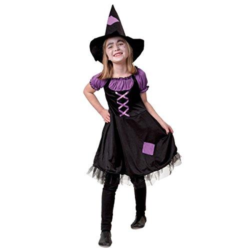 ouse of Halloween - Kinderkostüm Hexe mit Hut (Hexe Kostüme Für 10 Jährige)