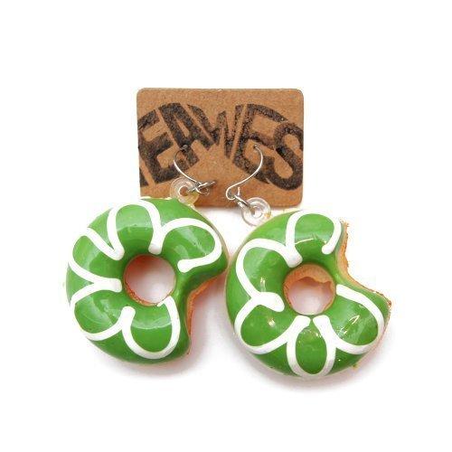 - 2 Stück - Ohrstecker Kitsch Party Sweet Doughnut Sugar Ohrring (2 Stück Zwei Stück Kostüme)