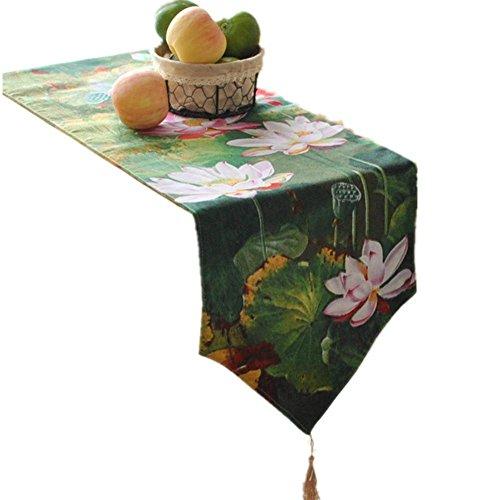 Preisvergleich Produktbild GGCCX Tischläufer Chinesische Tusche Gemälde Stil Tisch Läufer (Mondlicht) , 30*220Cm