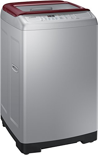 Samsung 6.2 kg Fully-Automatic Top Loading Washing Machine (WA62H4300HP, Light Grey and Sparkling Scarlet Wine)
