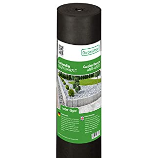 GardenMate Rollo Malla geotextil 105 g/m² – Geotextil para jardín – Estabilizada contra UV