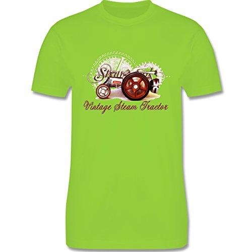 Landwirt - Vintage Steam Tractor Traktor - Herren Premium T-Shirt Hellgrün