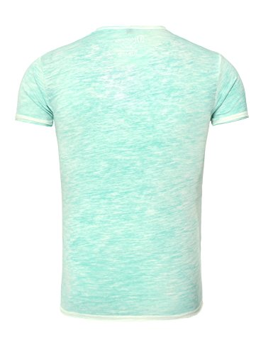 Sublevel Herren T-Shirt BEACH Slim Fit Basic Gut kombinierbar einfarbig Grün
