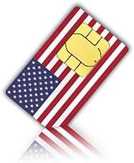 SIM Karte für die USA & Puerto Rico - Nano SIM + 3GB mit LTE Allnet-Flat mobiles Internet,internationale SMS