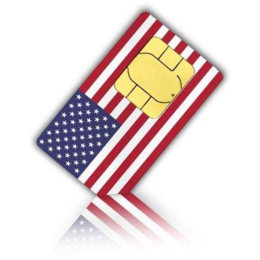 SIM Karte für die USA & Puerto Rico - Standard & Micro SIM + 4GB mit LTE Allnet-Flat mobiles Internet,internationale SMS