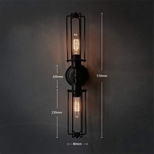 ngende Wand-Industriestil der Lampe Dekorative Rohr-Wandlampe in Glas-Wandlampe von Iron Country Bekleidungsgeschäft Cafe Restaurant Bar Wandleuchte Dekoration,Vier geladen ()