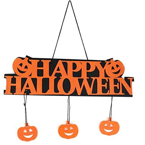 ekoration GLÜCKLICHE Halloween Hängen Hangtag Halloween Fensterdekoration Halloween-Kürbis Hängende Streifen ()