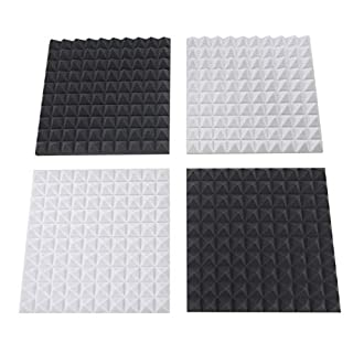 Akustikpur Acoustic Foam, Pyramid Foam, Sound Insulation mats for Effective Acoustic Insulation, Pack of 2. Anthracite/Black • 6 cm / 2 pcs. Light Grey • 6 cm