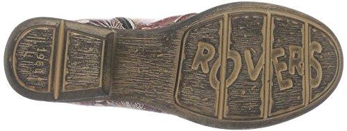 RoversRovers - Stivali a metà polpaccio con imbottitura leggera Donna Rosso (Rot (vino / vino / Vino))