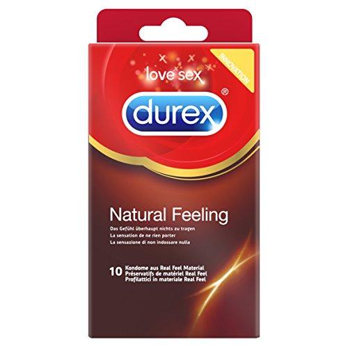 Durex Natural Feeling Kondome, natürliches Haut an Haut Gefühl, latexfrei, 10er Pack (1 x 10 Stück)