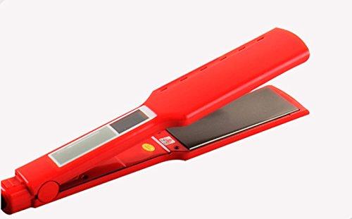 XINFUKL Plancha De Pelo,Straightening Iron, Rulos 31mm Alisador De Cabello Seco Y Húmedo Cerámica Permanente Férula Férula De Pelo Recto