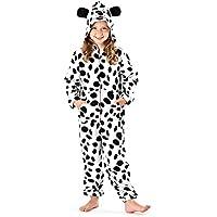 Niños con capucha todo en uno globalpowder pijama pijama Mono vaca y punto perro impresión