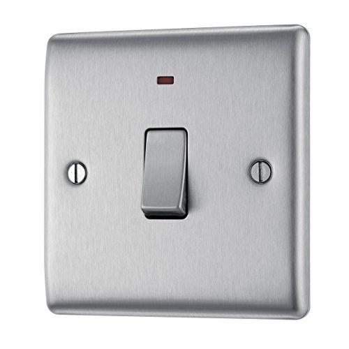 Masterplug NBS31 20A - Interruptor de luz con neón, 2 polos, en...
