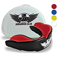 UK Warrior Gum Shield Mouth Guard Gum Guard Gumshield - Ideal For Contact Sports, Martial Arts, Karate, Rugby, MMA, Boxing, Hockey, Football - Carry Case - Instructions For Boil & Bite