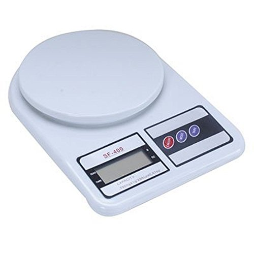 Slings Electronic Kitchen Digital Weighing Scale 10 Kg Weight Measure Liquids Flour,White  available at amazon for Rs.265