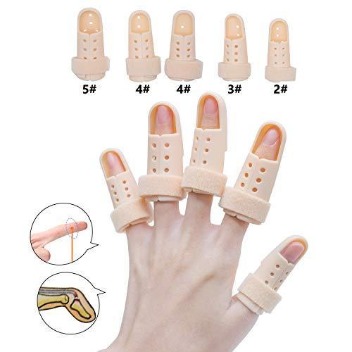 sumifun Fingerschiene Verlängerung für Trigger Finger, Brace Fingerschiene Mallet, Schaumstoff gefüttert, formbare Metallic Schiene aus, und Stabilisieren der Fractured