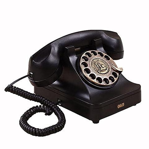 Antikes Festnetztelefon Schnurgebundenes Telefon Rotary Dial Keyboard Metal Retro Ringtones Call Freisprecheinrichtung Customized Home Decor